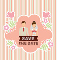 wedding invitation design vector image