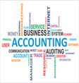 word cloud accounting vector image vector image