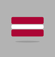 Latvia flag Stylized Latvian flag of geometrical vector image