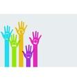 modern hands technology infographics vector image