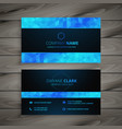 abstract blue and black business card design vector image vector image