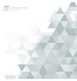 abstract gray triangles geometric on white vector image
