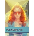 Abstract polygonal face Triangles portrait for vector image