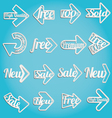 arrow sale labels vector image vector image