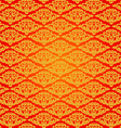 Beautiful asian art pattern red background vector image vector image