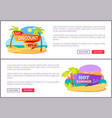 best discount only at summer online promotion vector image vector image