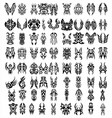 big set of tribal tattoos vector image vector image