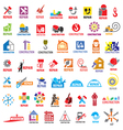 biggest collection logos construction vector image