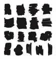 Black brush strokes set vector image vector image