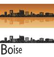 Boise skyline in orange vector image vector image