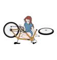 broken bike vector image vector image