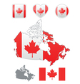 Canadian flag and icons vector image