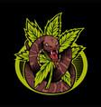 cannabis snake vector image