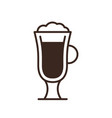 cappuccino glass isolated linear icon vector image vector image
