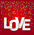 card - happy valentines day vector image