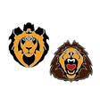 Cartoon lions head vector image vector image