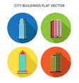 cityscape flat style city buildings modern big vector image vector image
