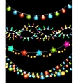 Colorful Christmas Lights Garlands vector image