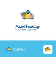 creative transport logo design flat color logo vector image