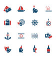 cruise icon set vector image