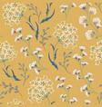 cute seamless floral pattern with flowers vector image vector image