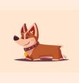 dog character best friend cartoon vector image