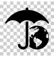 earth umbrella icon vector image vector image