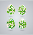 easter eggs with various colors vector image vector image