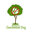 environmental protection sign from plastic vector image