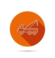 Evacuator icon Evacuate parking transport sign vector image
