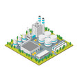 factory concept 3d isometric view vector image vector image