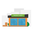 flat of shop building vector image