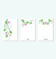 floral ornate decoration banners set vector image vector image