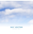 Fluffy clouds on blue sky heaven vector image vector image