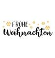 frohe weihnachten quote in german as logo vector image vector image