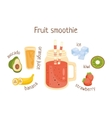 Fruit Smoothie Infographic Recipe With Needed vector image