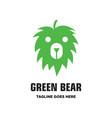 green bear logo vector image vector image
