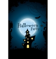 Grungy Halloween Party Background with Haunted vector image vector image