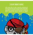 halloween background design - pirate zombie vector image vector image