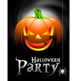 Halloween party background with pumpkin vector | Price: 3 Credits (USD $3)