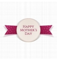 Happy Mothers Day Text on greeting Card vector image