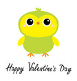 happy valentines day parrot bird toy icon big vector image