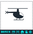 helicopter icon flat vector image