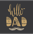 hello dad quote vector image