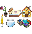 household objects cartoon set vector image vector image