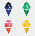 ice cream icon Abstract Triangle vector image