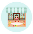 ice cream shop vector image