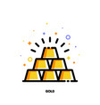 icon of gold bars pyramid for banking concept vector image vector image