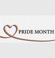 lgbt rainbow flag in heart shaped vector image vector image