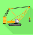 lifting excavator icon flat style vector image